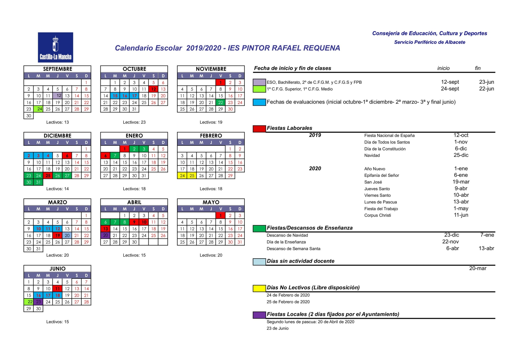 Calendario IES Pintor Rafael Requena 19 20 001